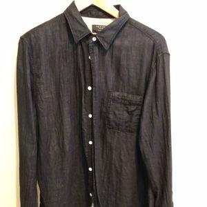 Rag&Bone 100% cotton men's long sleeve shirt XL